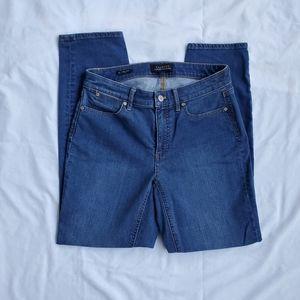 TALBOTS slim ankle curvy blue jeans size 4